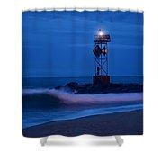 Ocean City Dawn Surf Shower Curtain