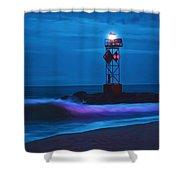 Ocean City Dawn Surf Painted Shower Curtain