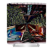 Occidental Park Cafe Shower Curtain