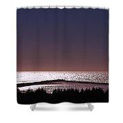 Ocean At Dusk Shower Curtain