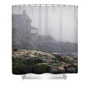 Ocean Avenue House In Fog Shower Curtain