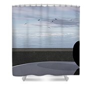 Ocean Balcony Shower Curtain