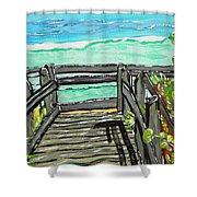 ocean / Beach crossover Shower Curtain