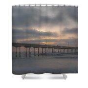 Ocean Beach Pier San Diego Ca Shower Curtain