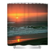 Ocean Beach Sunrise Shower Curtain