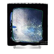 Ocean - Black And White Abstract Shower Curtain