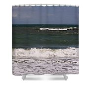 Ocean - Blue - Waves Shower Curtain