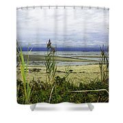 Ocean Calm Before Sunrise - Rocky Neck State Park Shower Curtain