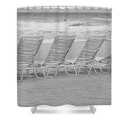 Ocean Chairs Shower Curtain