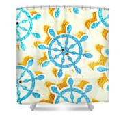 Ocean Circles Shower Curtain