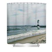 Ocean City I Shower Curtain