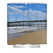 Ocean City Pier Shower Curtain