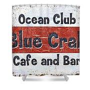 Ocean Club Cafe Shower Curtain