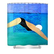 Ocean Dive Shower Curtain