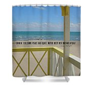 Ocean Dreaming Quote Shower Curtain