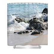 Ocean Drive Rocks Shower Curtain