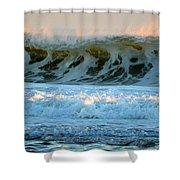 Ocean Energy At Sunrise Shower Curtain