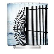 Ocean Fence Shower Curtain