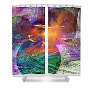 Ocean Fire Shower Curtain