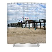 Ocean Fishing Pier Shower Curtain