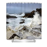 Ocean Foam Shower Curtain
