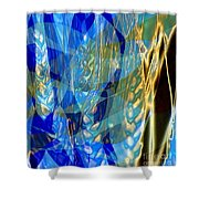 Ocean Girl With Golden Wheats Shower Curtain by Navo Art