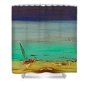 Ocean Glass Shower Curtain