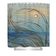Ocean Grasses In The Wind Shower Curtain