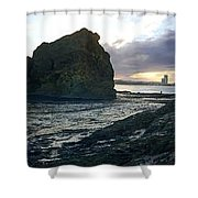 Ocean Headland Panorama Shower Curtain