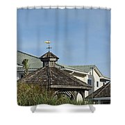 Ocean Isle Fish Weathervane Shower Curtain