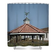 Ocean Isle Pelican Weathervane Shower Curtain