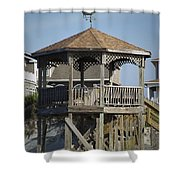 Ocean Isle Pig Weathervane Shower Curtain