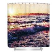 Ocean Landscape Sunrise Shower Curtain