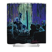 Ocean Lounge Jazz Night Shower Curtain