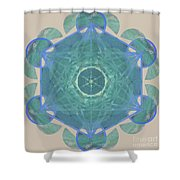 Ocean Metatron Shower Curtain