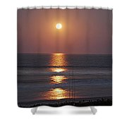 Ocean Moon In Pastels Shower Curtain by DigiArt Diaries by Vicky B Fuller