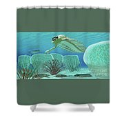 Ocean Opabinia Shower Curtain