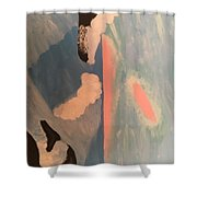 Ocean Painting Shower Curtain