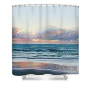Ocean Painting - Days End Shower Curtain