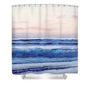 Ocean Painting 'dusk' By Jan Matson Shower Curtain