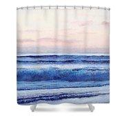 Ocean Painting 'dusk' By Jan Matson Shower Curtain