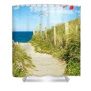 Ocean Path In Cornwall Shower Curtain