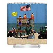 Ocean Rescue  Shower Curtain