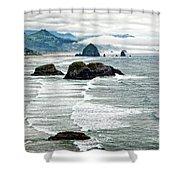 Ocean Rocks Off The Oregon Coast Shower Curtain