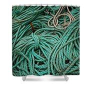 Ocean Ropes Shower Curtain