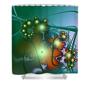 Ocean Secrets Abstract Shower Curtain