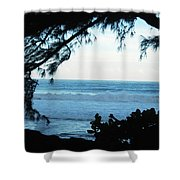 Ocean Silhouette Shower Curtain