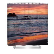 Ocean Sky Awash In Color Shower Curtain