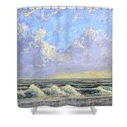 Ocean Storm Sunrise Shower Curtain