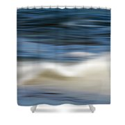 Ocean Stretch - Abstract Shower Curtain